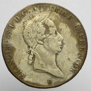 Austro-Węgry, Franciszek I, Półtalar 1826 B, Kremnica
