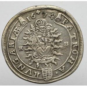 Hundary, Leopold I, 15 kreuzer 1674