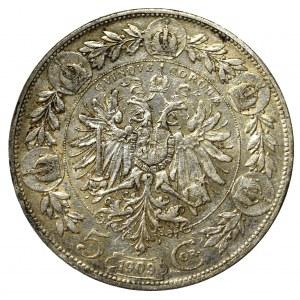 Austria-Hungary, Franz Joseph, 5 corona 1908