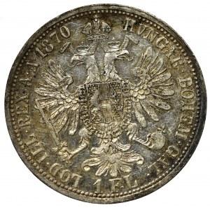 Austria-Hungary, Franz Joseph, 1 florin 1870
