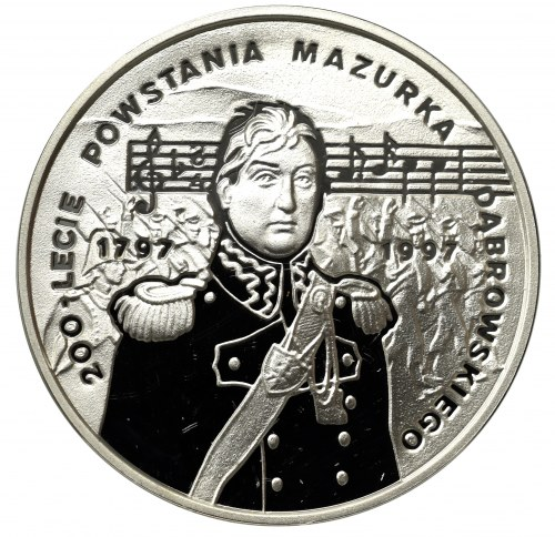 III RP, 10 złotych 1996 200 lecie Powstania Mazurka Dąbrowskiego