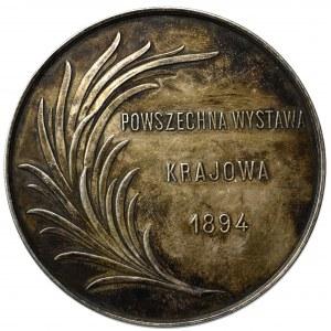 Polska, Medal nagrodowy Powszechnej Wystawy Krajowej we Lwowie, 1894 - srebro
