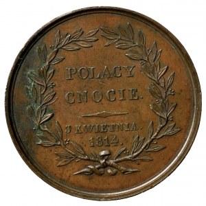 Polska, medal - hrabia Wincenty Korwin Krasiński 1814