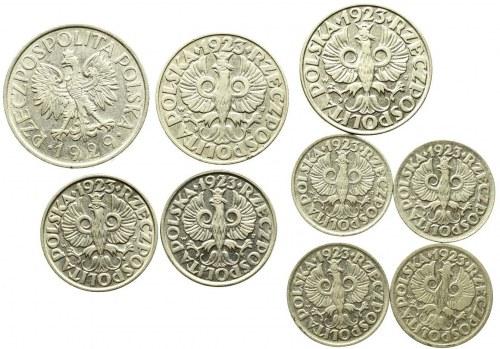 II RP, Zestaw 10 groszy-1 złoty (9 egz)