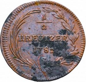 Austria, 1/2 kreuzer 1782