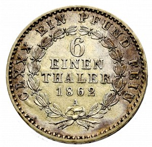 Niemcy, 1/6 Talara 1862 Anhalt
