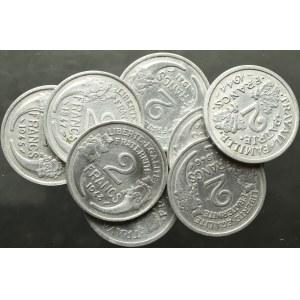 Francja, Zestaw 2 franki 1941-49