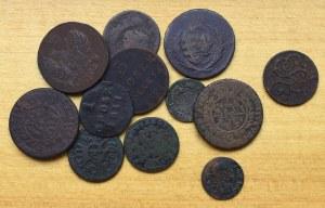 Polska pod zaborami, SAP, zestaw monet - 12 egzemplarzy
