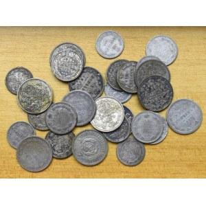 Rosja, zbiór drobnych srebrnych monet