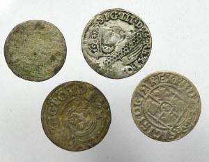 Zestaw drobnych srebrnych monet z okresu panowania Z III Wazy