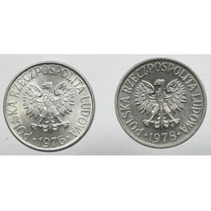 PRL, zestaw 50 groszy 1976-1978 2 szt.