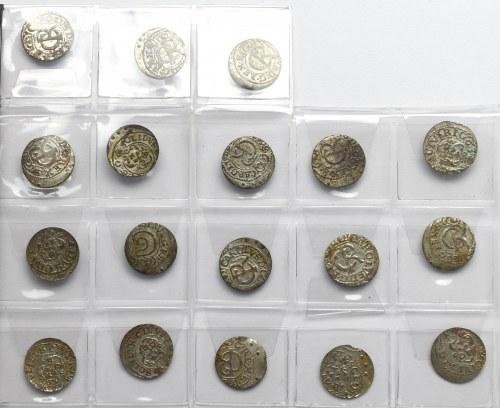 Kolekcja szelągów (18 egzemplarzy)