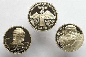 Zestaw trzech kolekcjonerskich rubli