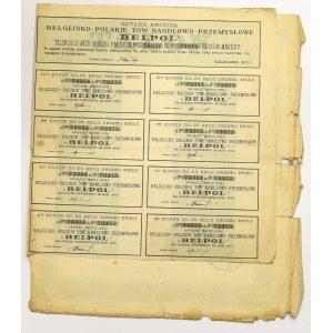 II RP, 25 Akcji BELPOL NA 12.500 MAREK Polskich, Warszawa 1922