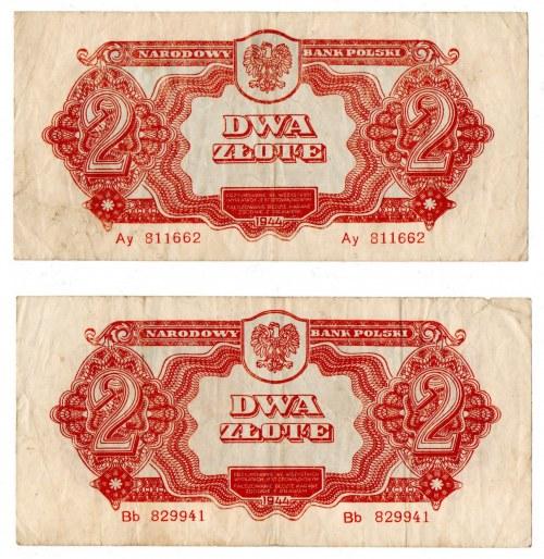 PRL , 2 złote 1944 , 2 egzemplarze