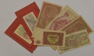 Polska, zestaw bonów i banknotów