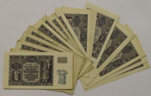 Generalne Gubernatorstwo, Zestaw 20 złotych 1940 - 32 egzemplarze