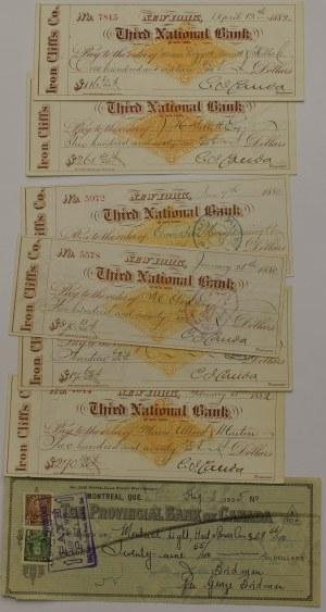 USA, Czeki 1880, 1882 i 1935