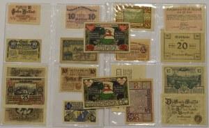 Niemcy, Zestaw notgeldów - 19 egzemplarzy