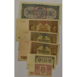 Rosja i PRL, Zestaw banknotów - 6 egzemplarzy