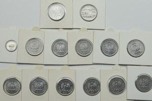 PRL, Zestaw monet o nominale 1 złoty lata 1974 - 1989 (14 egzemplarzy)