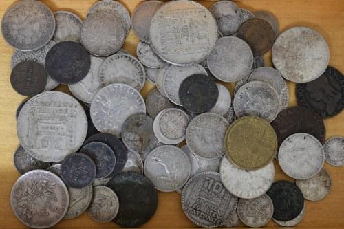 Francja, Duży zestaw monet (ponad ćwierć kg srebra!)