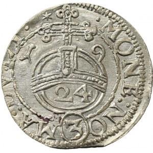 Sigismund III, 1/24 thaler 1619, Vilnius, Error RX, Rare