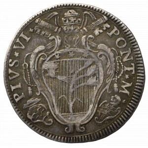 Watykan, Pius VI, 1 Lira (20 bolognini) 1793