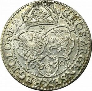 Zygmunt III Waza, Szóstak 1601, Malbork - litera M - RZADKI