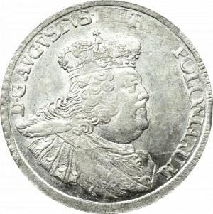 August III Sas, Ort 1756, Lipsk - szerokie popiersie - MENNICZY