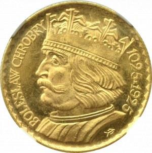 II Rzeczpospolita, 10 złotych 1925 Chrobry - NGC MS66