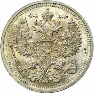 Rosja, Mikołaj II, 20 kopiejek 1910 ЭБ