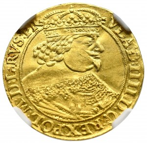 Władysław IV Waza, Dukat 1641, Gdańsk - rzadkość ILUSTROWANY NGC MS61
