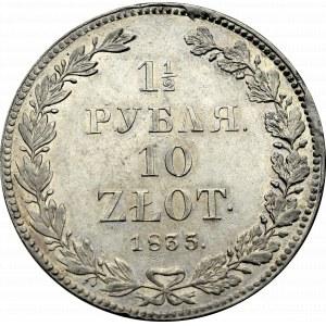 Congress Poland, Nicholas I, 1-1/2 rouble=10 zloty 1835 НГ Petersburg