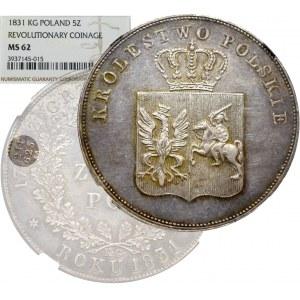 November uprising, 5 zloty 1831 - NGC MS62