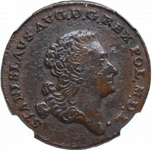 Stanislaus Augustus, 3 groschen 1766 G - NGC AU53BN