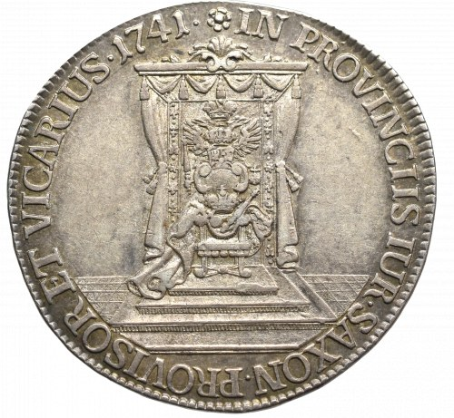 Germany, Saxony, Friedrich August II, 1/2 thaler 1741, Dresden