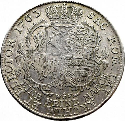 Germany, Saxony, Friedrich August II, Thaler 1763