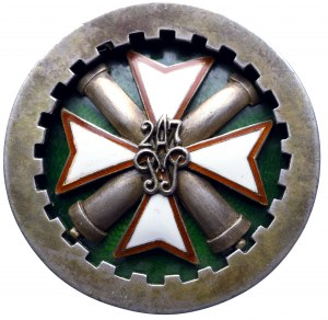 II Republic of Poland, Officer badge of the 27th Artillery Regiment