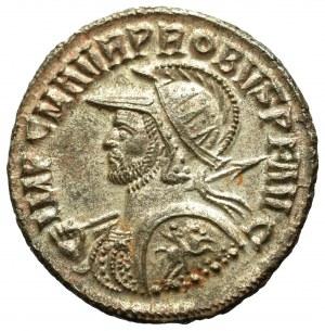 Roman Empire, Probus, Antoninian Cyzicus - rare horseman on the shield