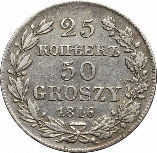 Poland under Russia, Nicholas I, 25 kopecks-50 groschen 1846 MW