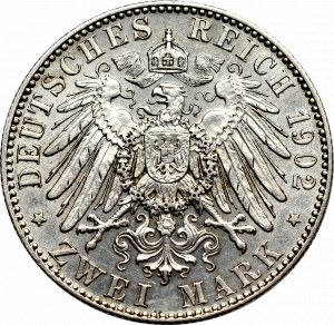 Germany, Saxony, 2 mark 1902