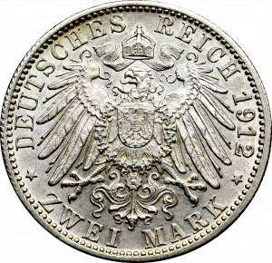 Germany, Wuertemberg, 2 mark 1912