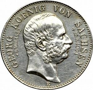 Niemcy, Saksonia, 2 marki 1904 - śmierć króla