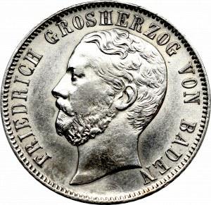 Niemcy, Badenia, 1/2 Guldena 1869