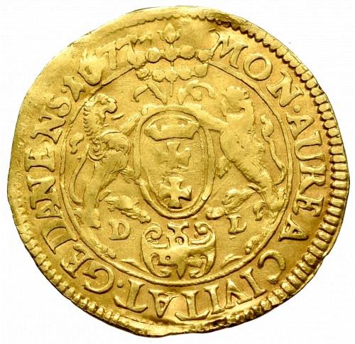 John III Sobieski, Ducat 1677, Gdańsk