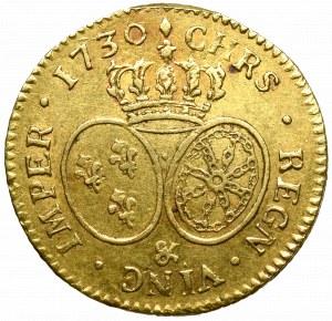 France, Ludvik XV, louis d'or 1730, Pau