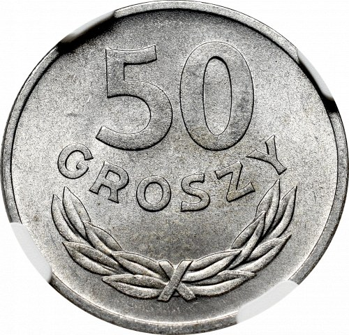 PRL, 50 groszy 1957 - NGC MS66