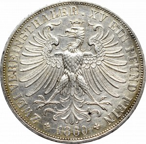 Niemcy, Frankfurt, 2 talary 1860