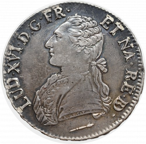 France, Ludovic XVI, Ecu 1785, Pau
